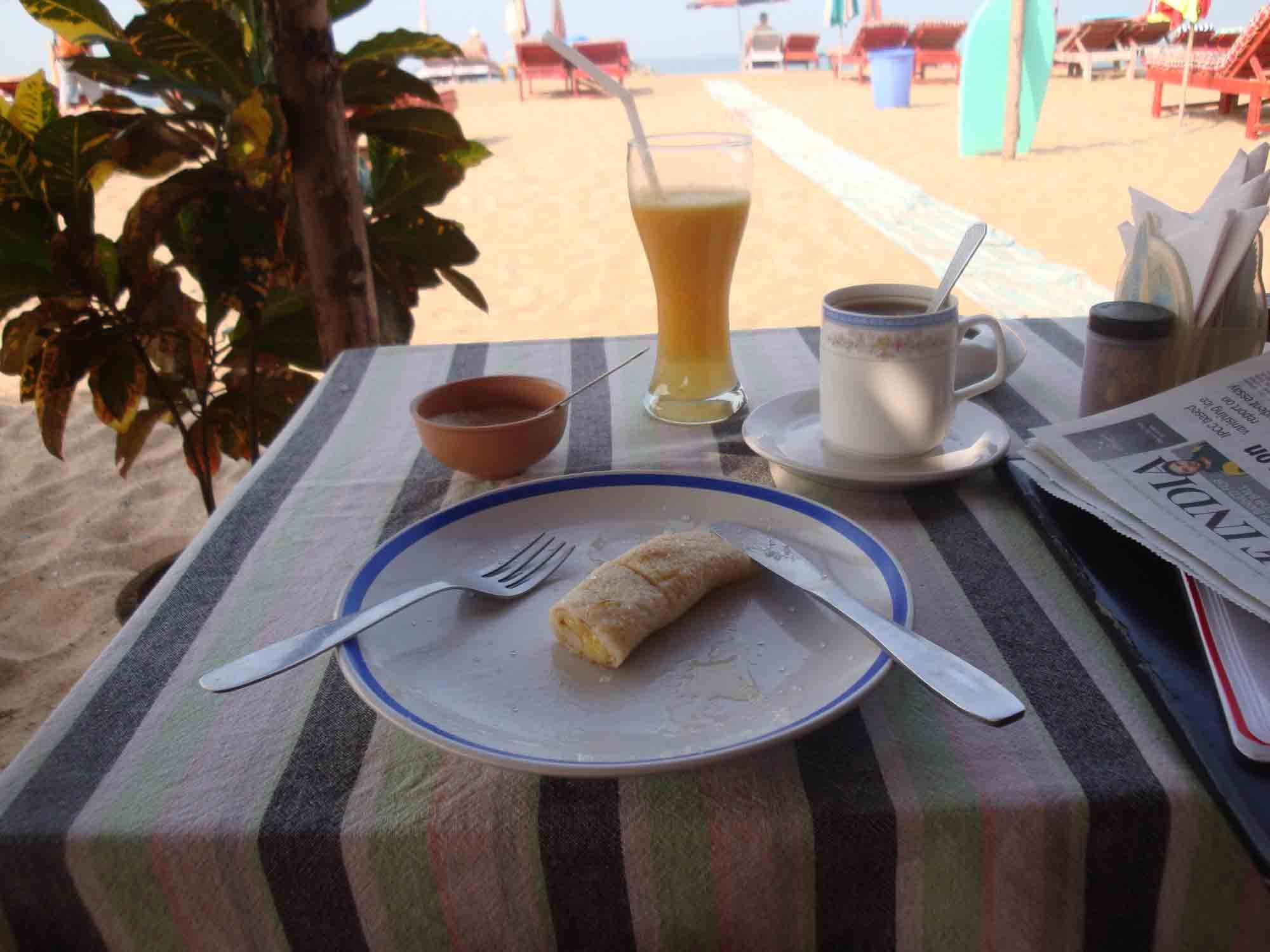 Calangute beach - Food