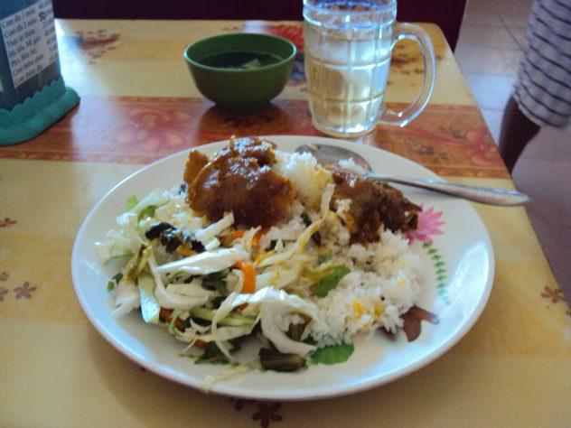 Mittagessen auf der Reise