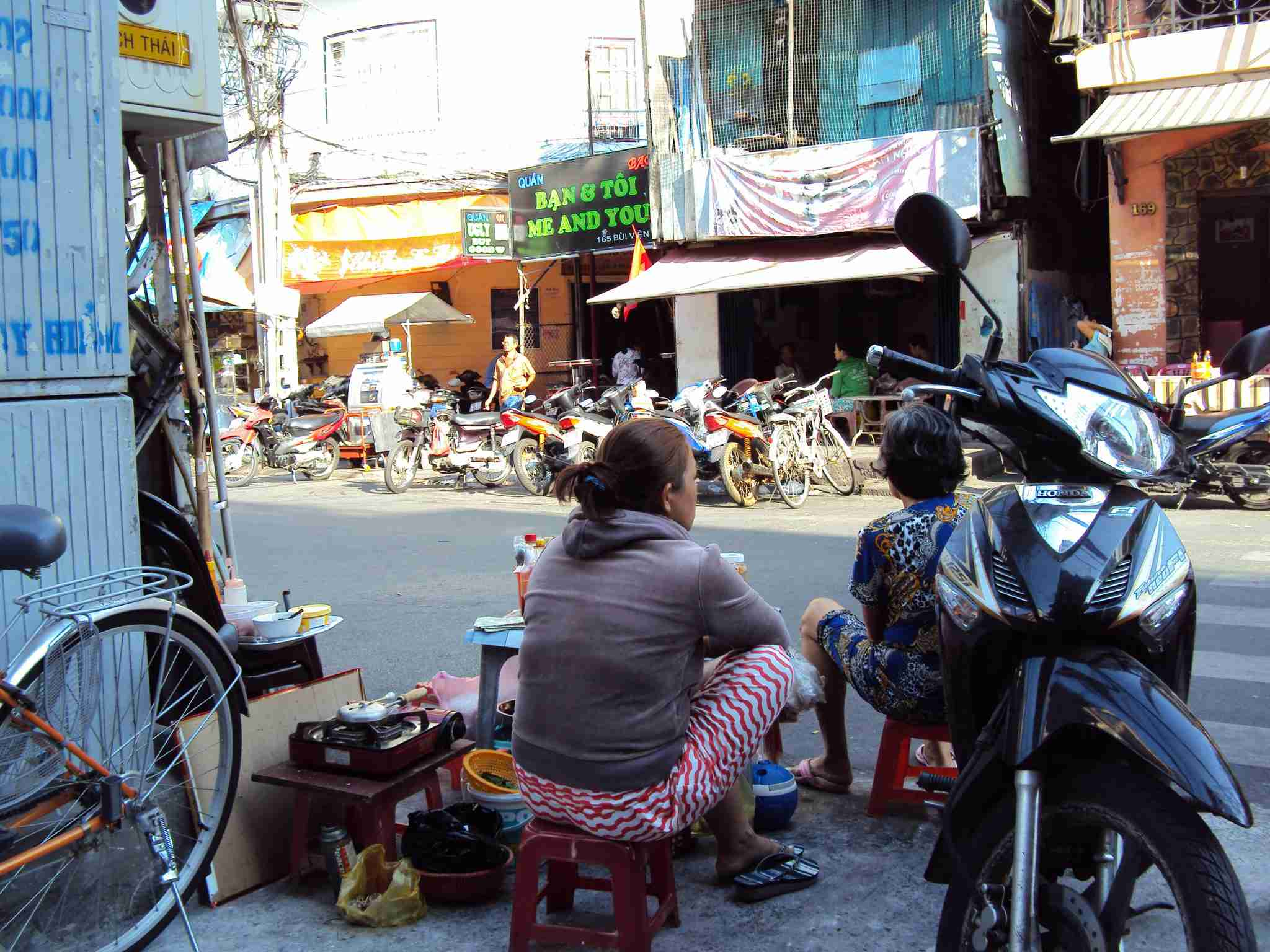 Saigon - offers at the sidewalk