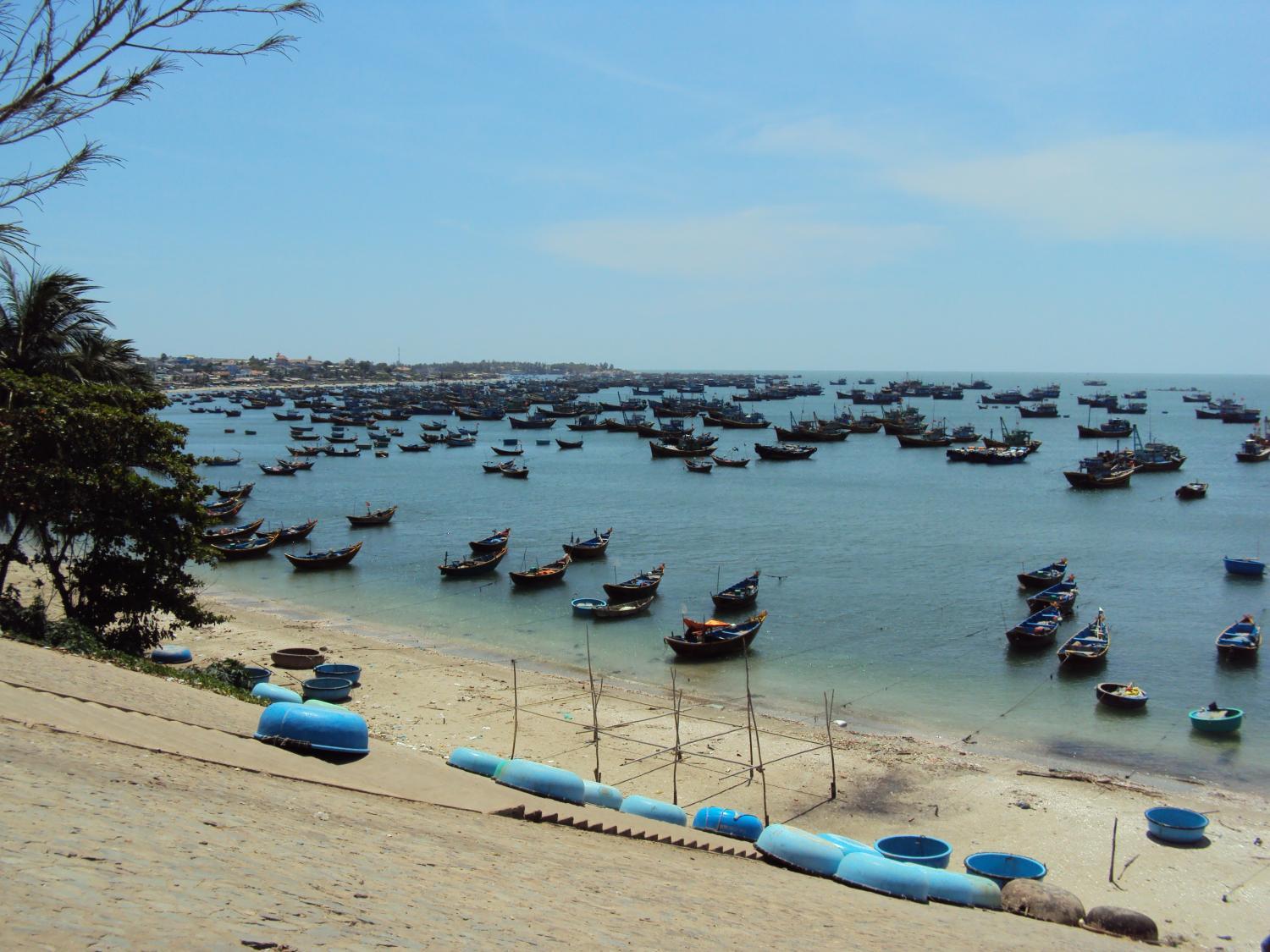 Fishing boats at the harbour