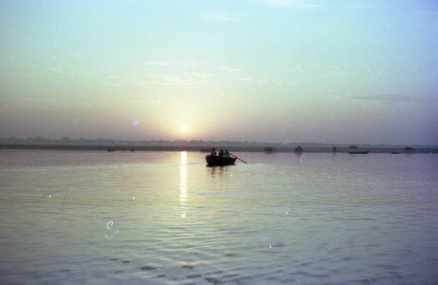 Sonnenaufgang über dem Ganges