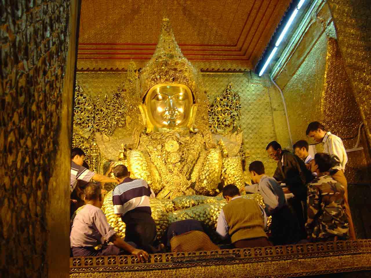The fat Buddha in Mandalay