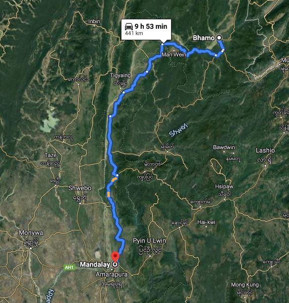 From Bhamo to Mandalay