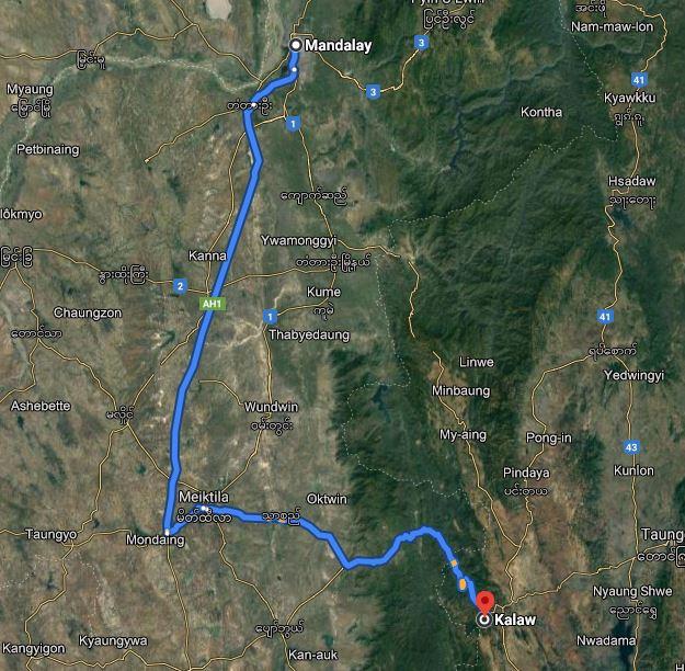 From Mandalay to Kalaw