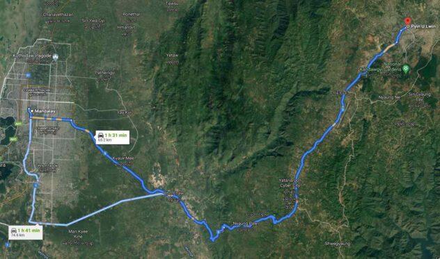 From Mandalay to Pyin U Lwin