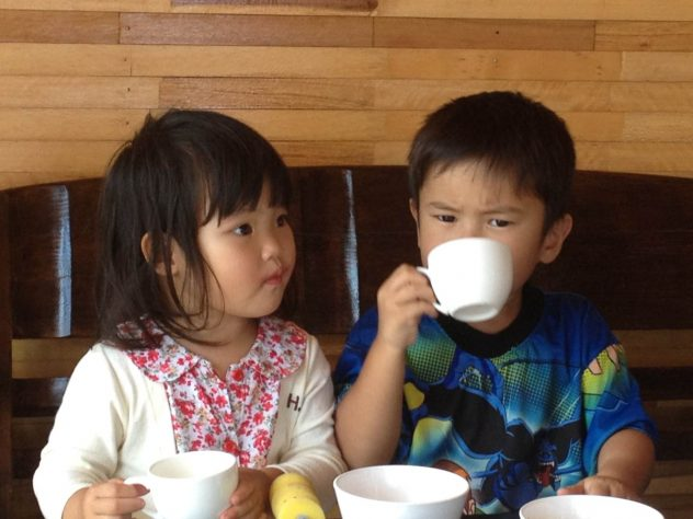 young guests in Restaurant