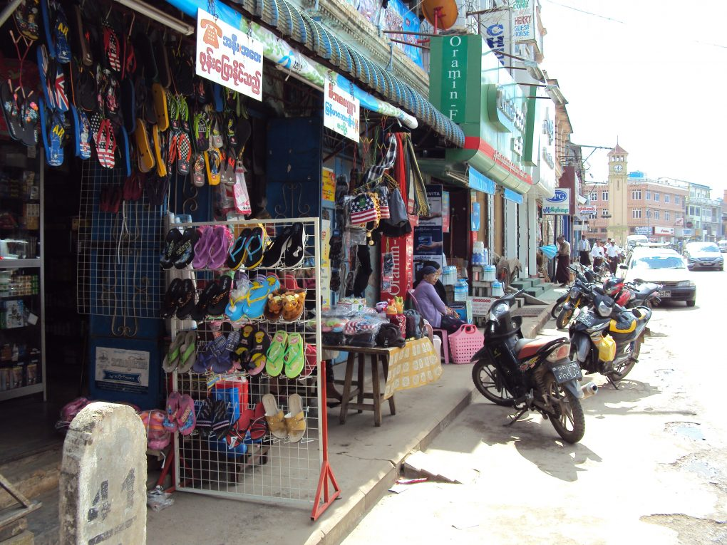 Die Hauptstrasse in Pyin U Lwin