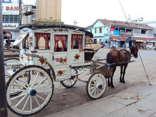 Horse carriages in Pyin U Lwin