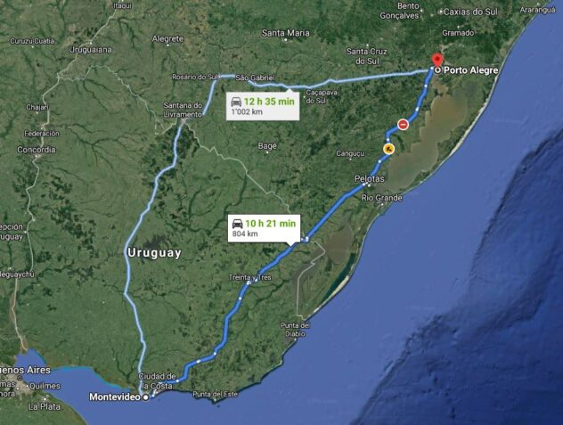 From Montevideo to Porto Alegre