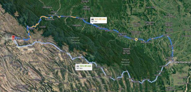From Santa Cruz to Cochabamba