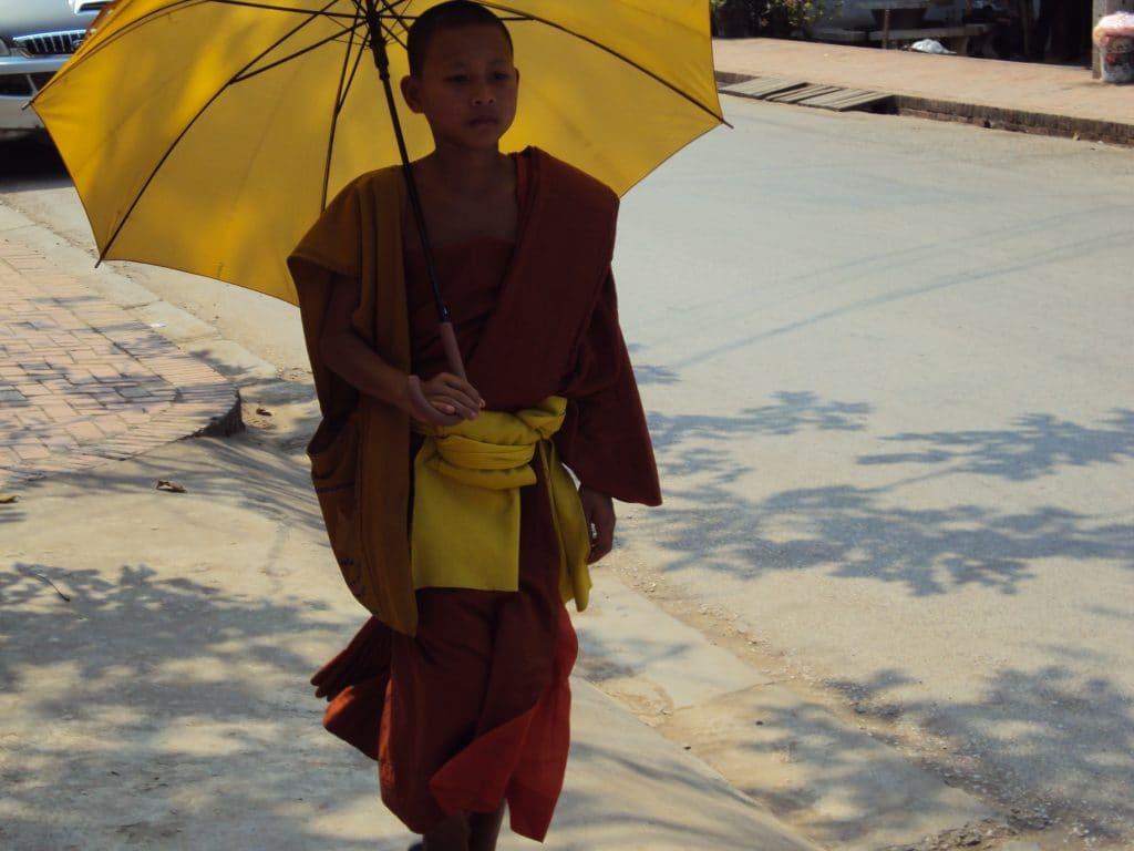 Mönch in Luang Prabang