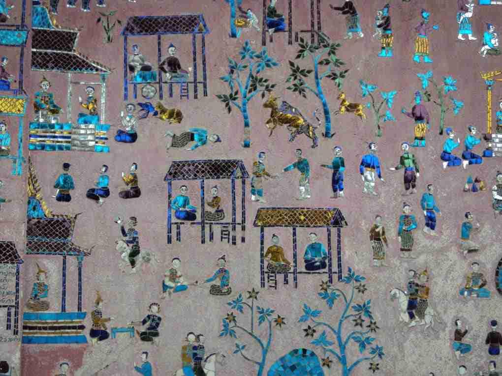 Wandmalereien am Wat Xieng Thong