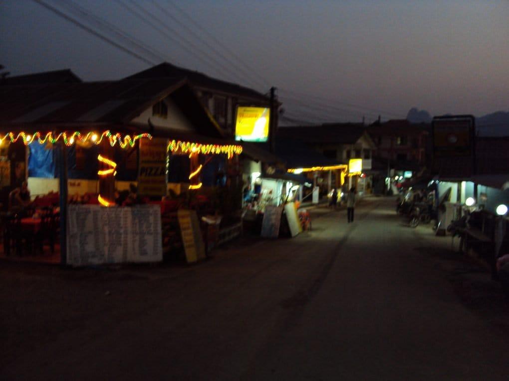 Vang Vieng evening - blurry