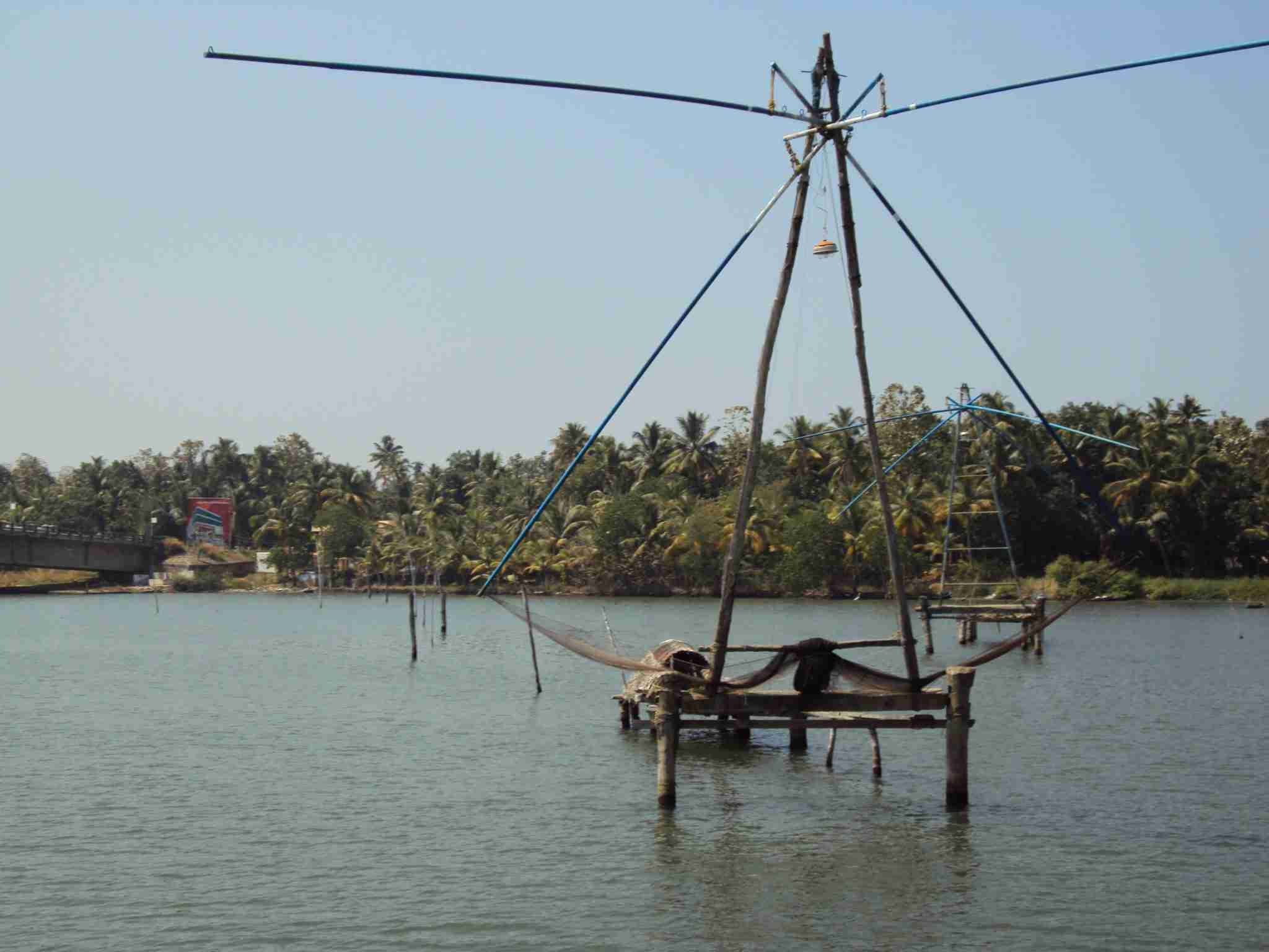 Fischernetze in den Backwaters