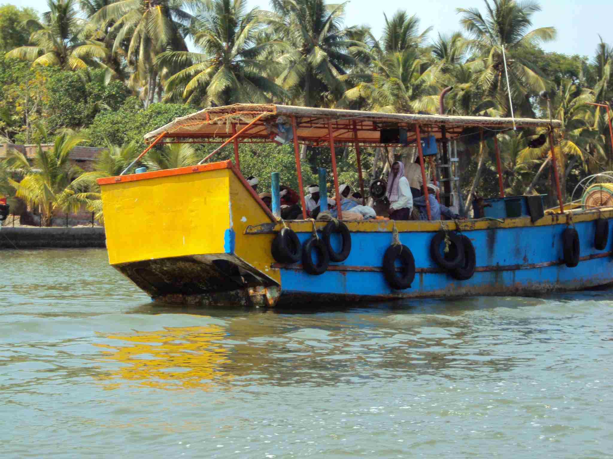Excursion boat on the Kerala Backwaters