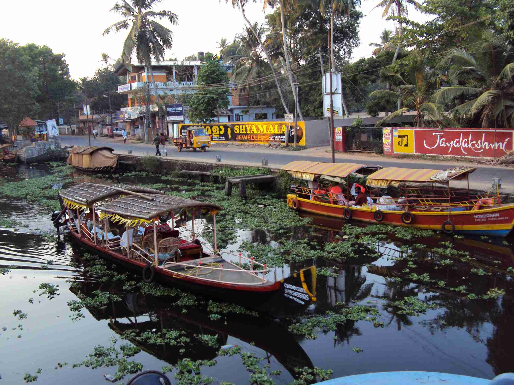 Boats off Alleppey