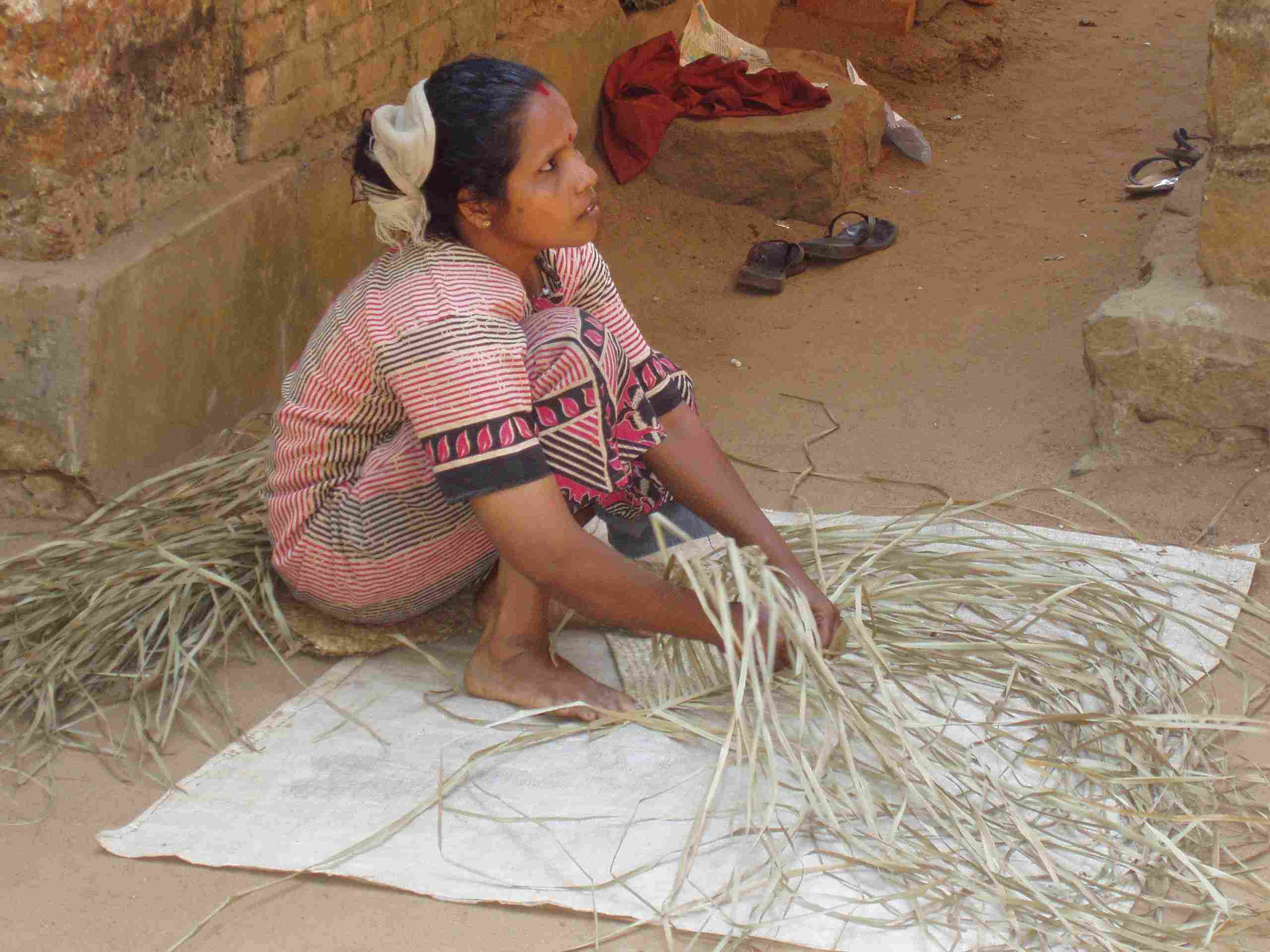 From these unimpressive things the basket weaver creates something beautiful