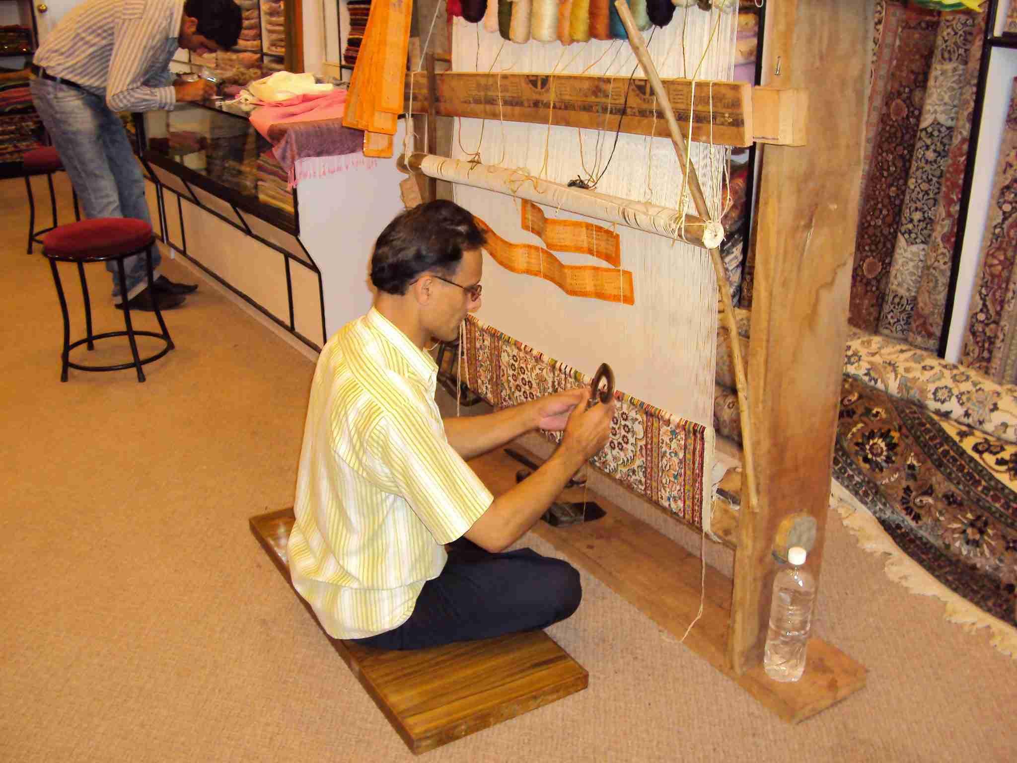 Kashmiri craftsman at work