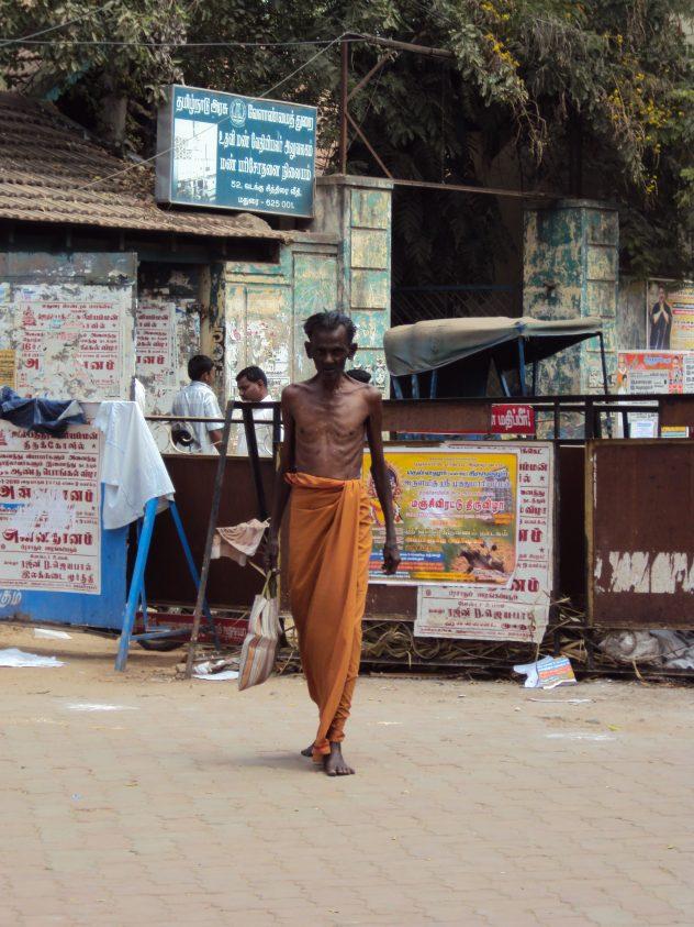 Dünner Mann in Madurai