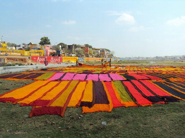 Wäsche auslegen in Madurai