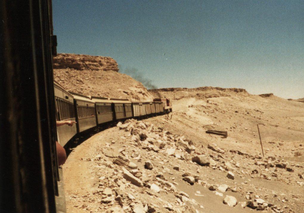 Train and desert