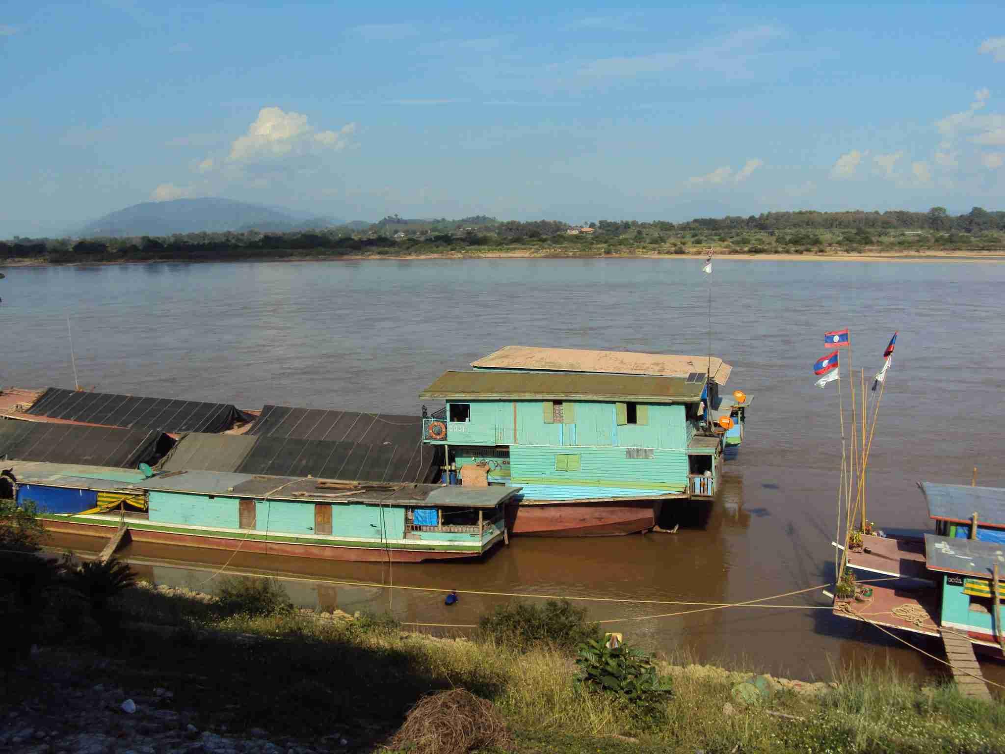 Cargo ships on the Mekong