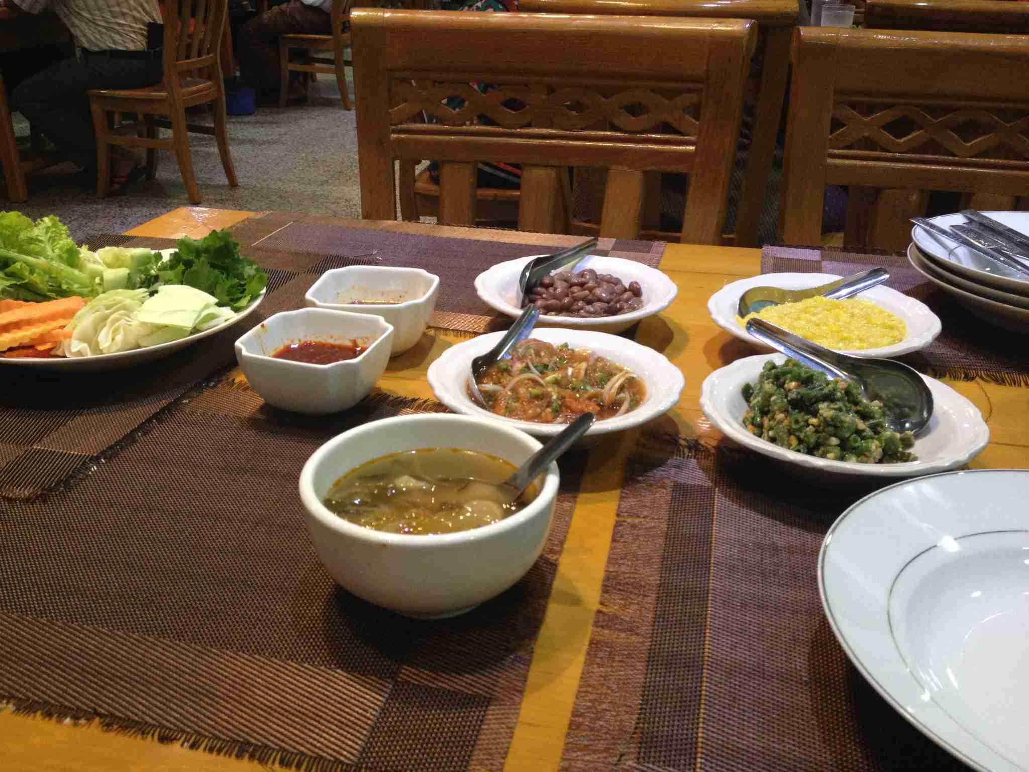 Wonderful meal in Mandalay