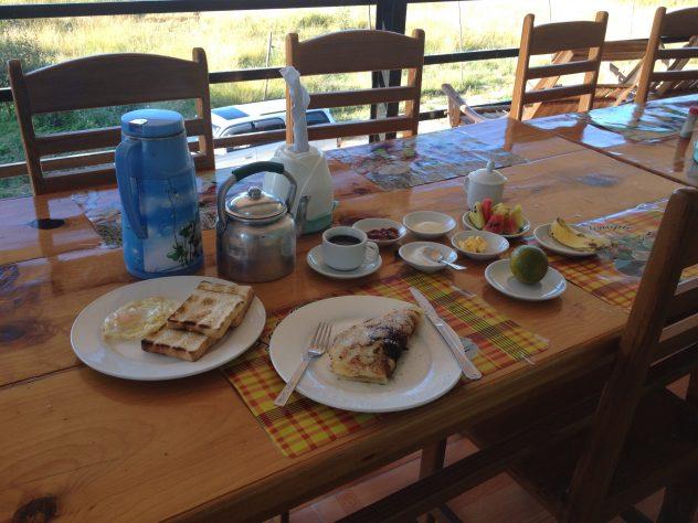 Frühstück im Railroad Hotel