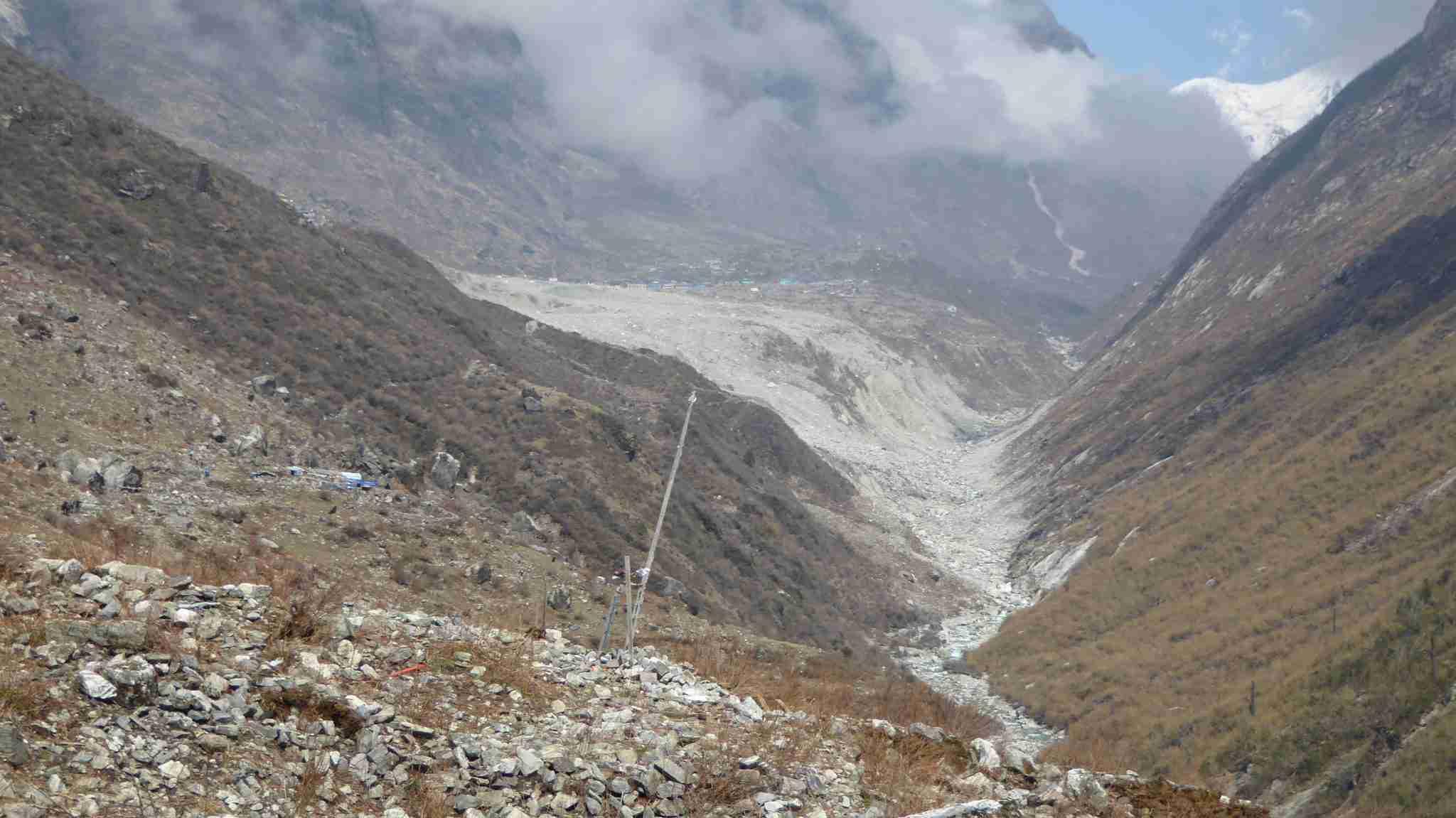 Langtang landslide - a huge wound in the landscape