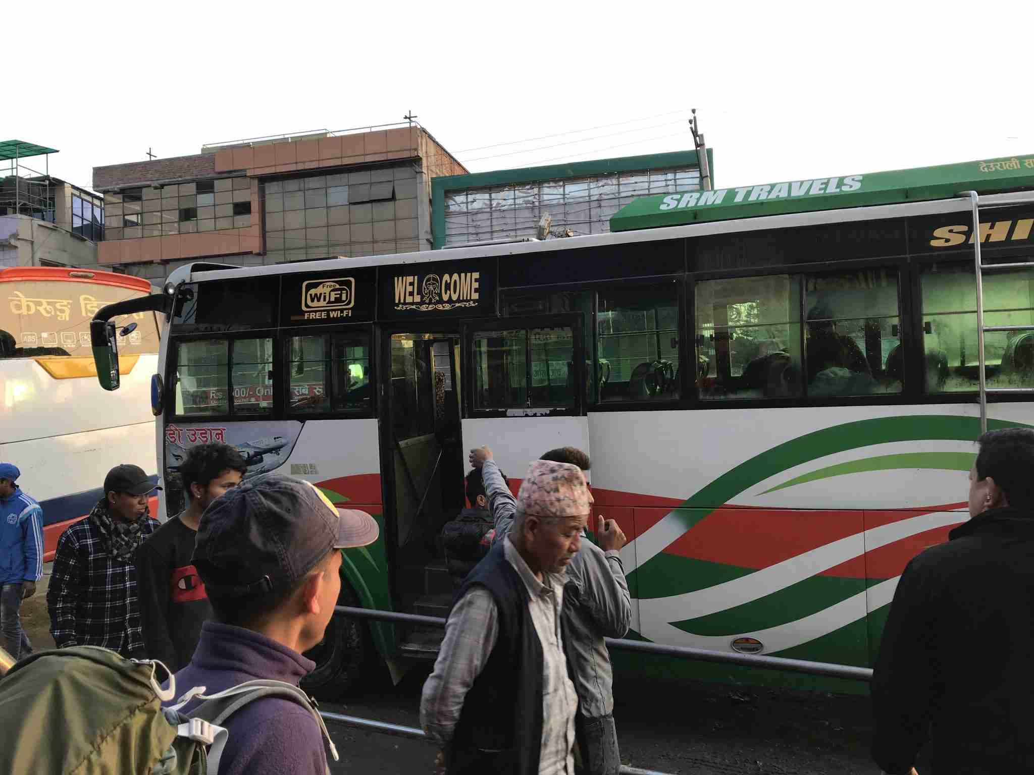Our bus to Syabrubesi
