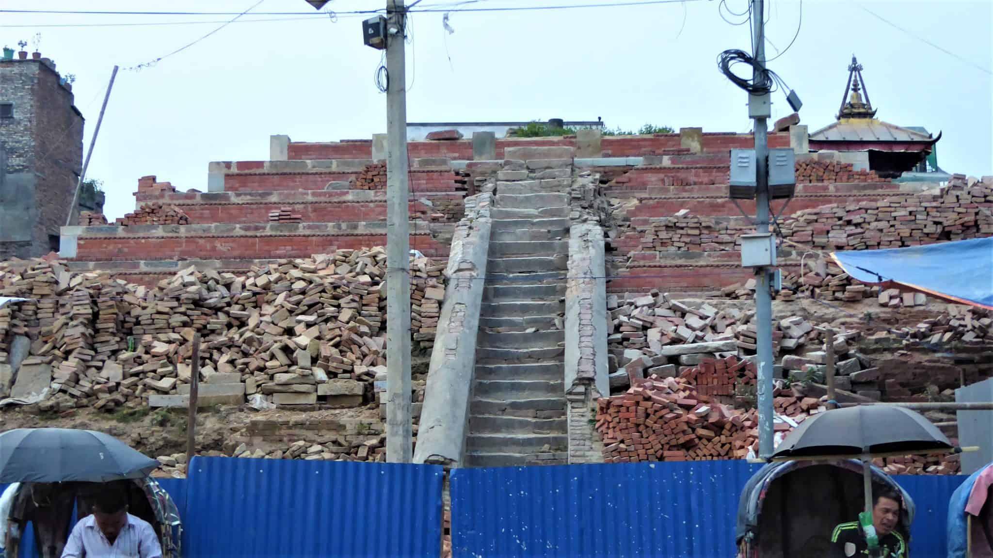 or still in ruins