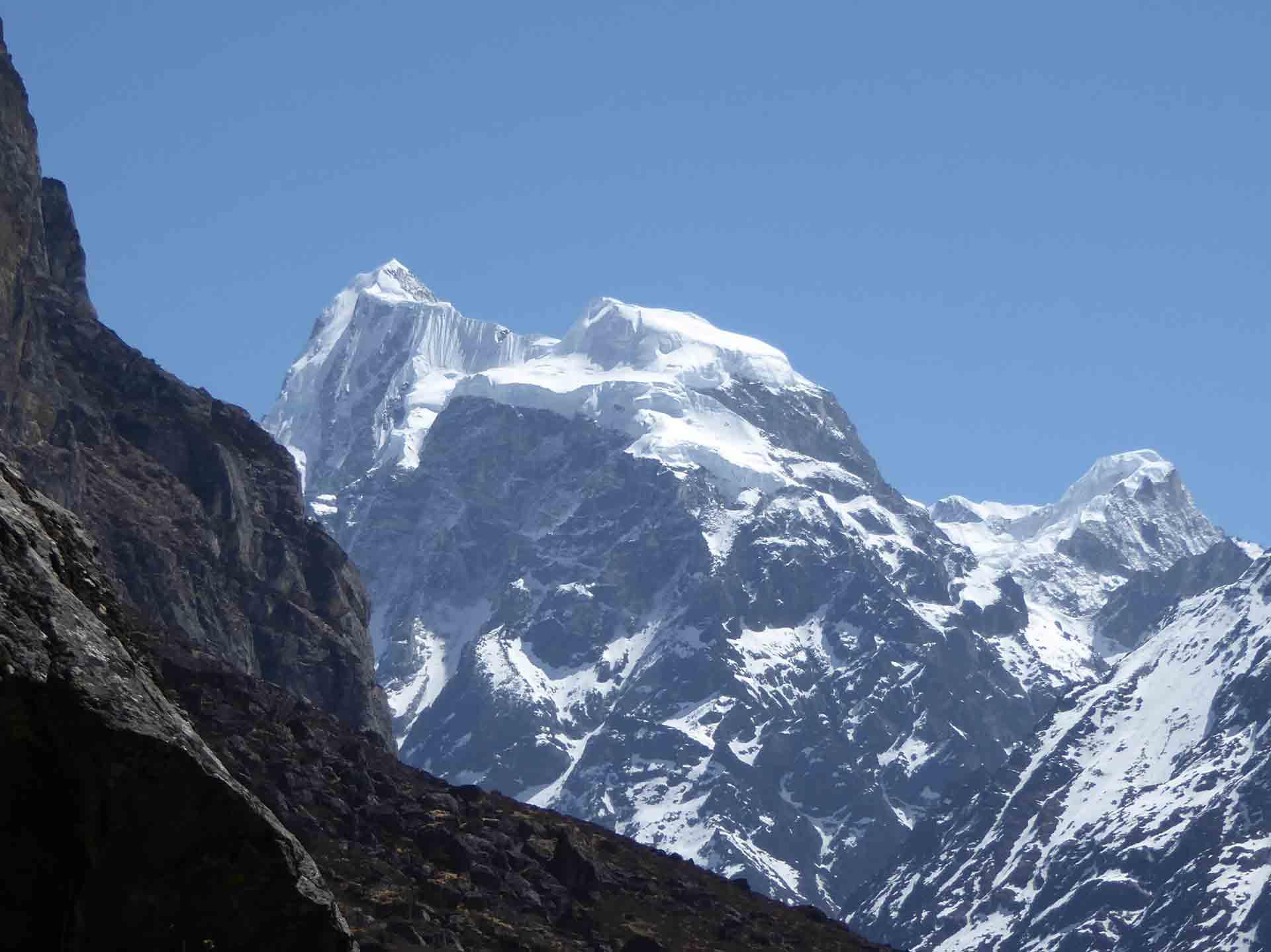 Mountains at Langtang Trek