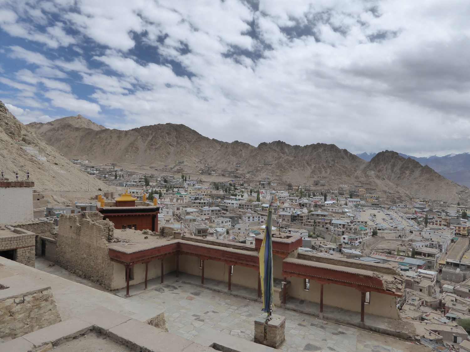 View down to Leh - a world in the midst of desolate surroundings
