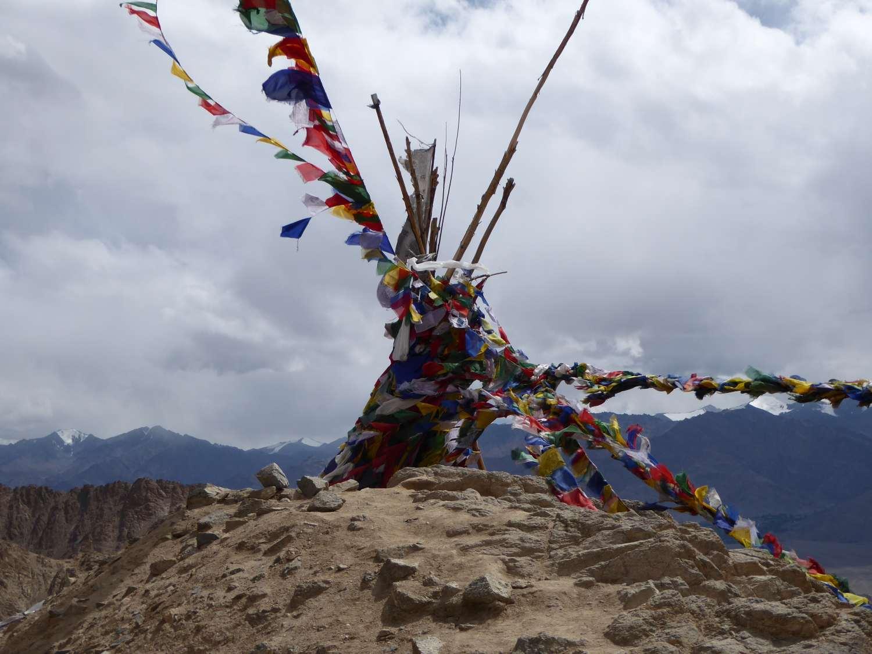Prayer flags in the gentle wind