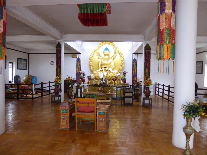 Das Innere des Stupas