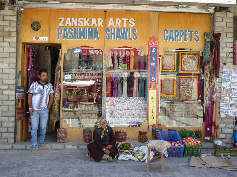 ... and he sells Pashmina Shawls
