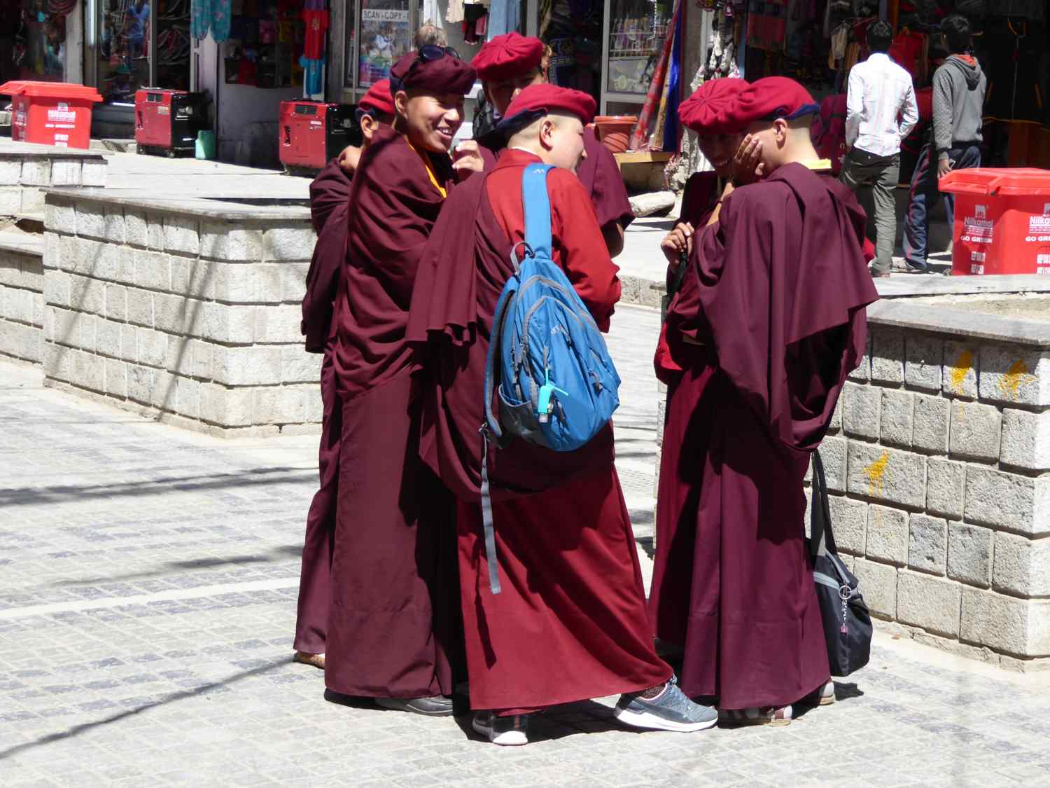 ... and happy monks