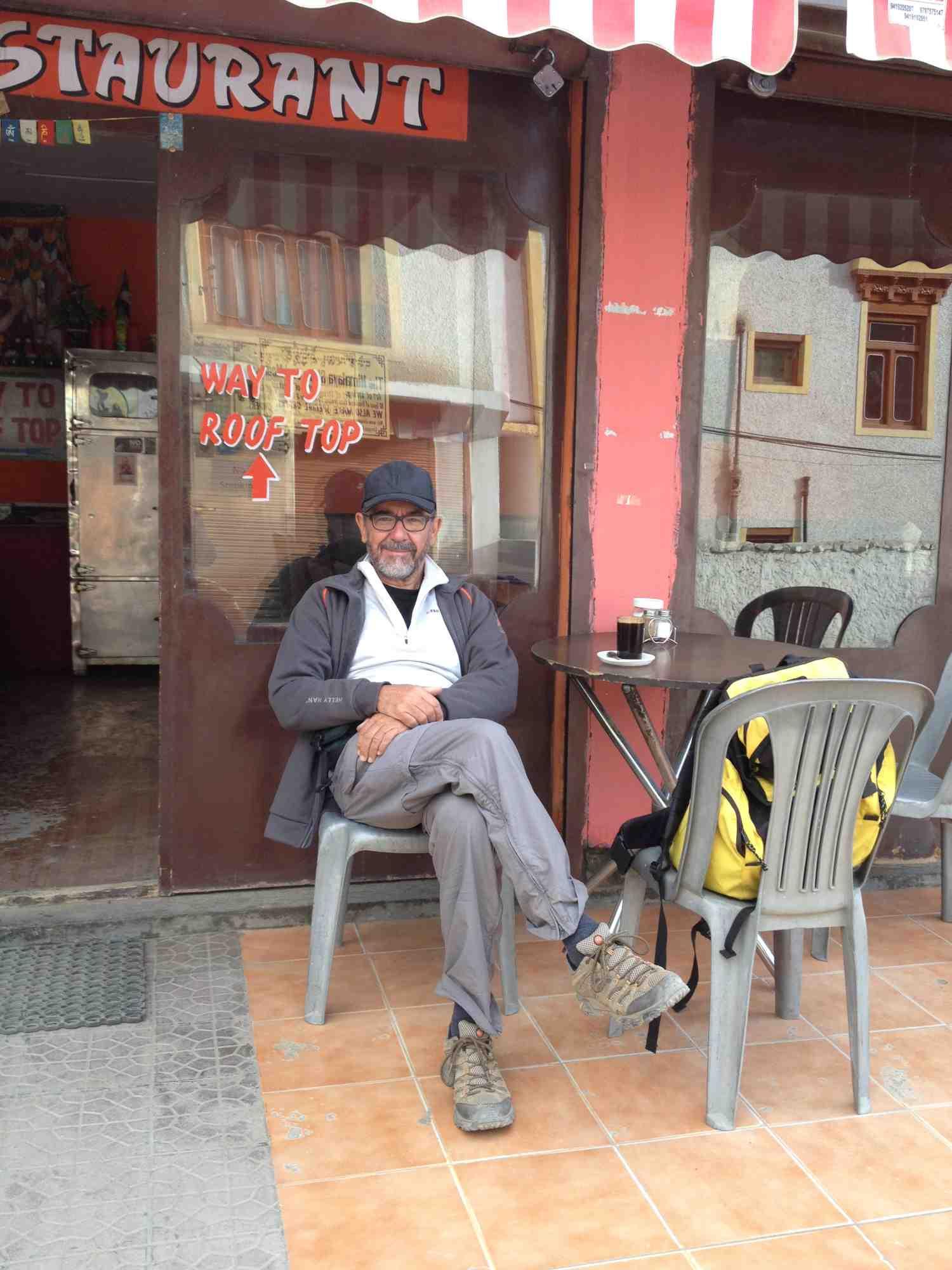 Kaffee vor der Abfahrt