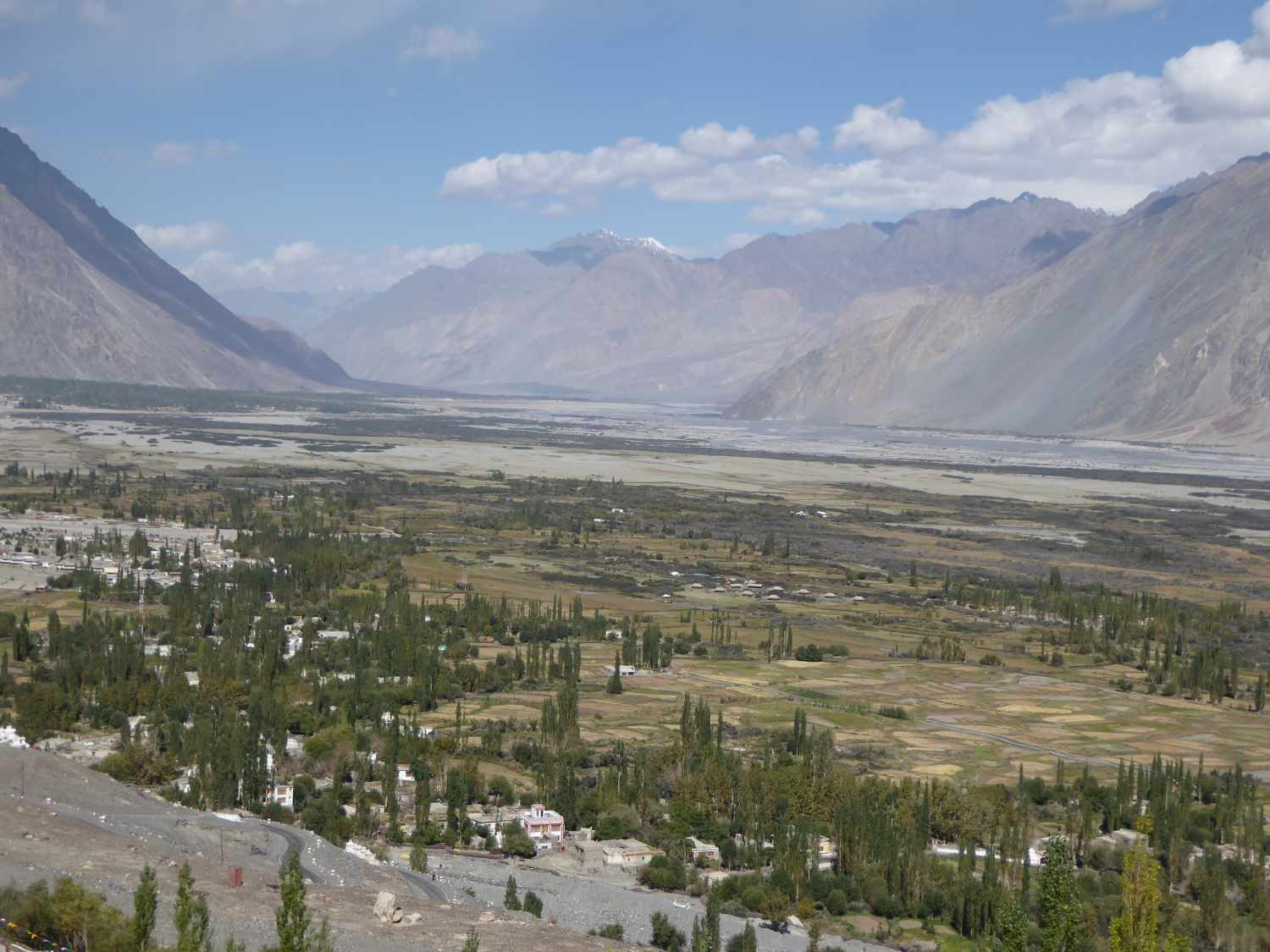 The Nubra Valley - bright and wide and sometimes even green
