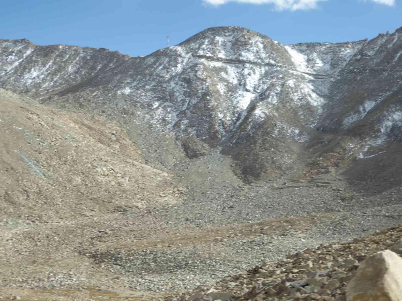 Einschnitt im Berg