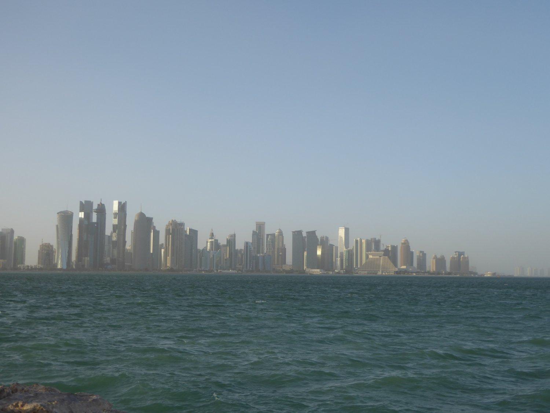 Silhouette von Doha