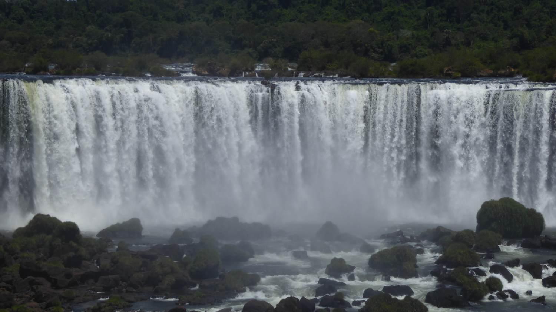 Iguaçu Falls from below