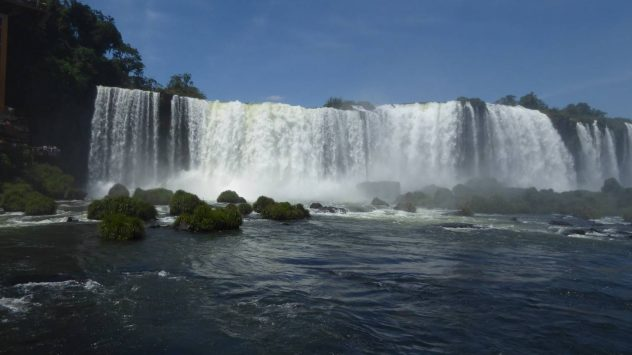 Iguaçu Falls from below