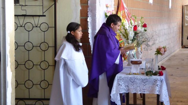 Mass at Busstation