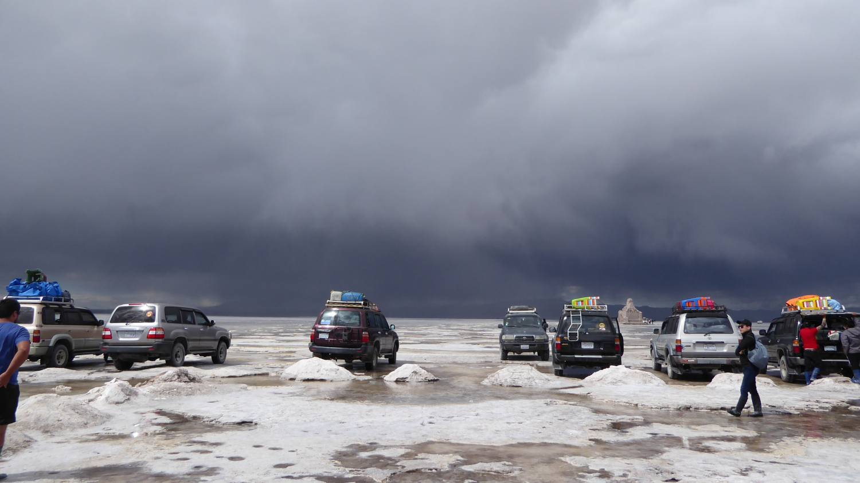 Uyuni Salt Flat cars