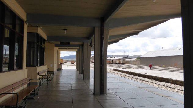 deserted railway station in Uyuni
