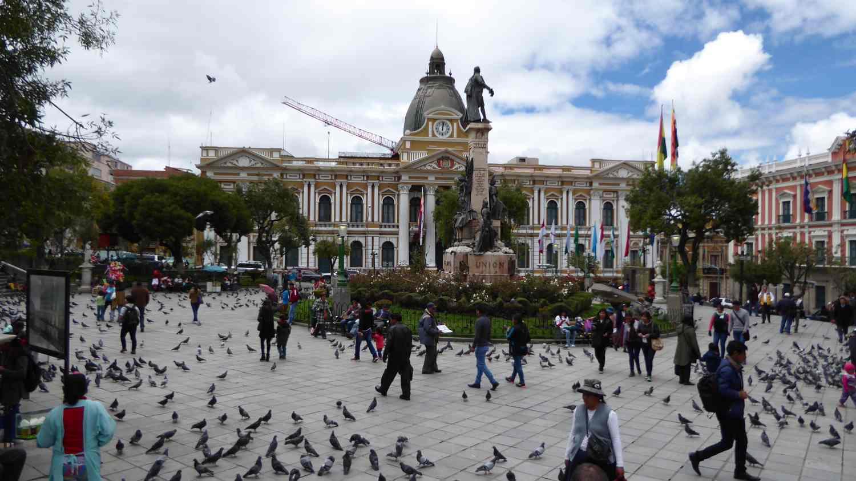 central plaza in La Paz