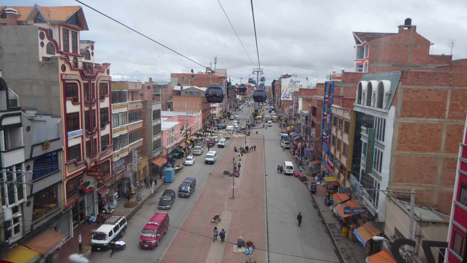 Main Street in El Alto from above