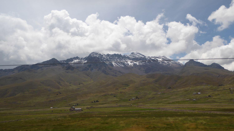 snowtopped mountain ranges