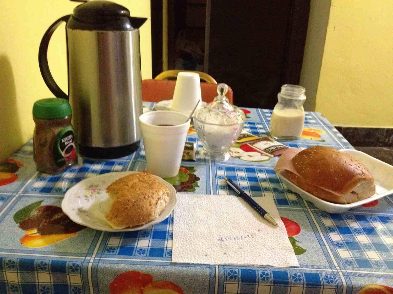a very bad breakfast